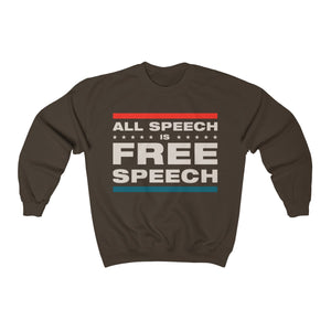 Unisex Heavy Blend™ Crewneck Sweatshirt - All Speech Is Free Speech