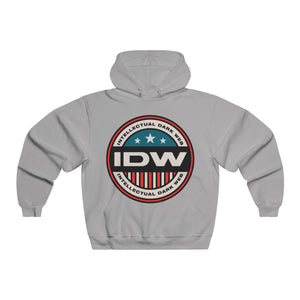 Men's NUBLEND® Hooded Sweatshirt - IDW Badge - Color - Red Border
