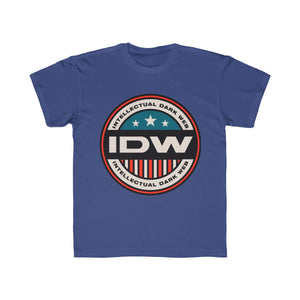 Kids Regular Fit Tee - IDW Badge - Color - Red Border
