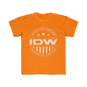 Kids Regular Fit Tee - IDW Badge - Grey