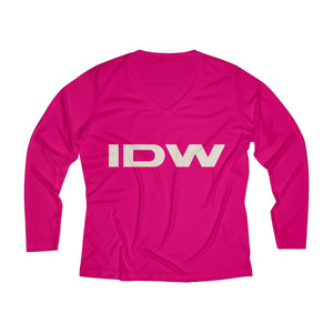Women's Long Sleeve Performance V-neck Tee - IDW Abbreviated