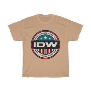 Unisex Heavy Cotton Tee - Color IDW Badge - Red Border