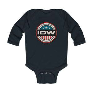 Infant Long Sleeve Bodysuit - IDW Badge - Color - Red Border
