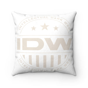 Faux Suede Square Pillow - IDW Badge - Grey