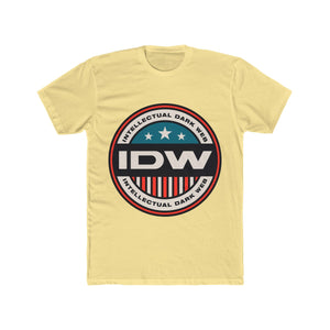 Men's Cotton Crew Tee - Color IDW Badge - Red Border
