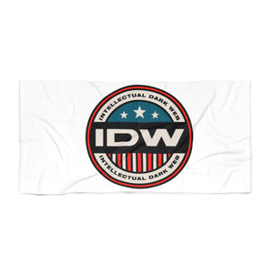 Beach Towel - IDW Badge - Color - Red Border