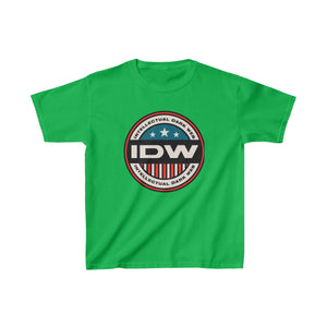 Kids Heavy Cotton™ Tee - IDW Badge - Color - Red Border