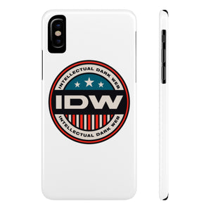 Case Mate Slim Phone Cases - IDW Badge - Color - Red Border