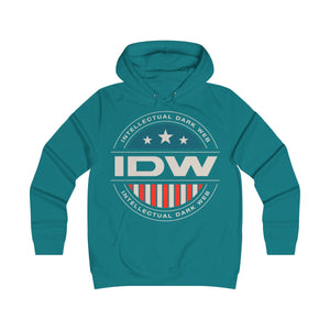 Girlie College Hoodie - IDW Badge - Color - White Border