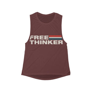 Women's Flowy Scoop Muscle Tank - Free Thinker