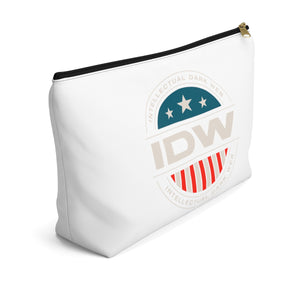 Accessory Pouch w T-bottom - IDW Badge - Color - White Border