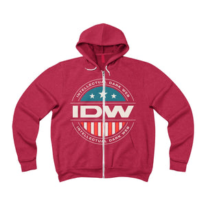 Unisex Sponge Fleece Full-Zip Hoodie - IDW Badge - Color - Grey Border