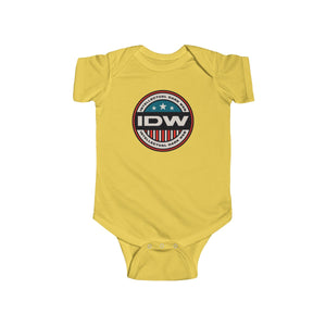 Infant Fine Jersey Bodysuit - IDW Badge - Color - Red Border