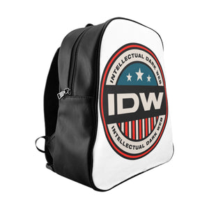 School Backpack - IDW Badge - Color - Red Border