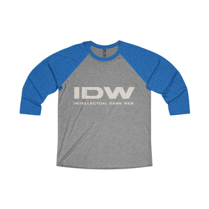 Unisex Tri-Blend 3/4 Raglan Tee - IDW Spelled Out