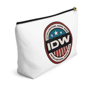 Accessory Pouch w T-bottom - IDW Badge - Color - Red Border