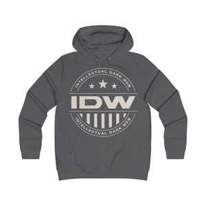 Girlie College Hoodie - IDW Badge - Grey