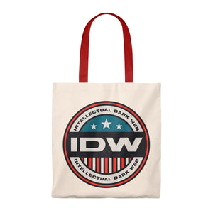 Tote Bag - Vintage - IDW Badge - Color - Red Border