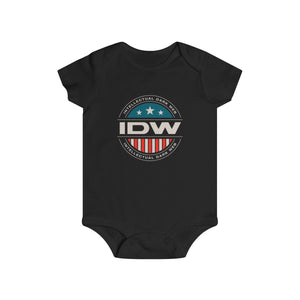 Infant Rip Snap Tee - IDW Badge - Color - White Border