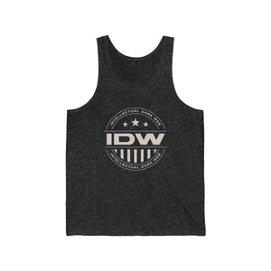 Unisex Jersey Tank - IDW Badge - Grey