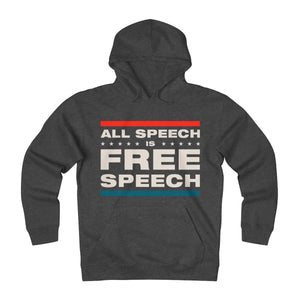 Unisex Heavyweight Fleece Hoodie - All Speech Is Free Speech
