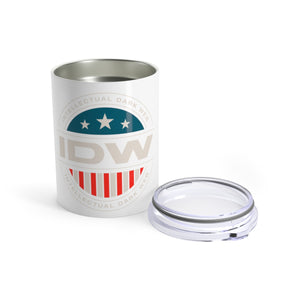 Tumbler 10oz - IDW Badge - Color - White Border