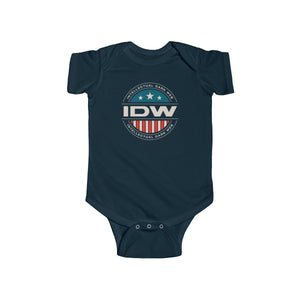 Infant Fine Jersey Bodysuit - IDW Badge - Color - White Border