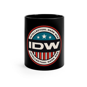 Black mug 11oz - IDW Badge - Color - Red Border