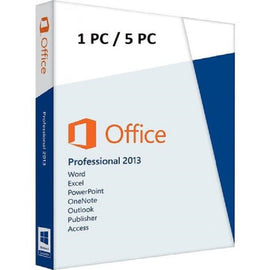 Genuine MS Office 2013 Professional Plus (for windows pc only) (Lifetime key for 1 or 5 pc)