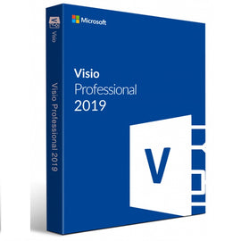 Genuine MS Visio 2019 Professional (for Windows) (Lifetime Key for 1, 2 or 5 PC)