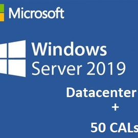 Microsoft Windows Server 2019 Datacenter Edition + 50 RDS CALs