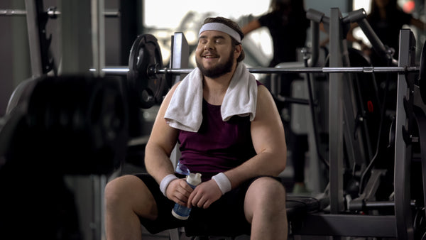 Man at the gym doing exercise