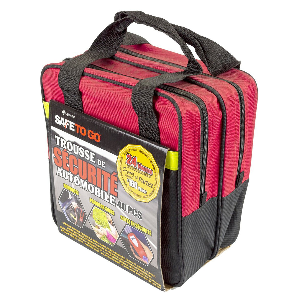 39pc Roadside Emergency Auto Safety and First Aid Kit - BargainJunkie