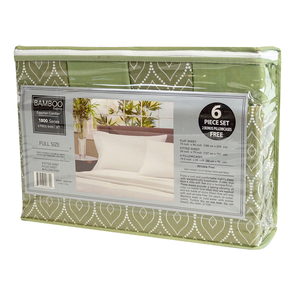 Cool Comfort Super Soft MicroFiber Full Size 6 Piece Sheet Set, Green