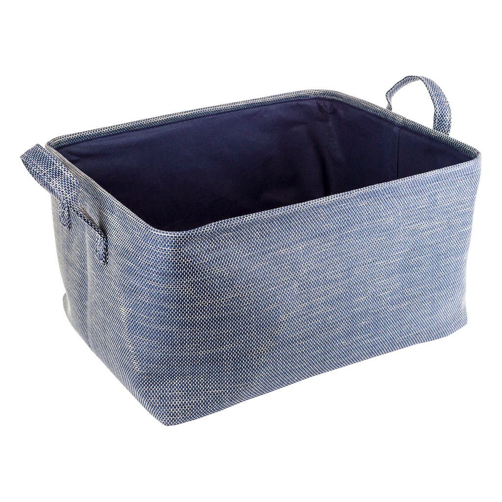 Home Ease 4 Piece Deluxe Fabric Storage Basket Set, Blue