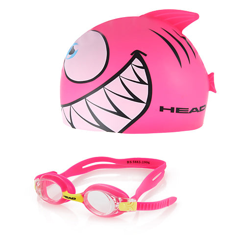Image of HEAD Meteor Kid's Goggles and Swim Cap Set, Pink