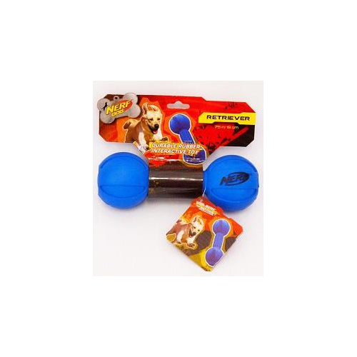 Nerf Rubber Toy Barbell, Blue