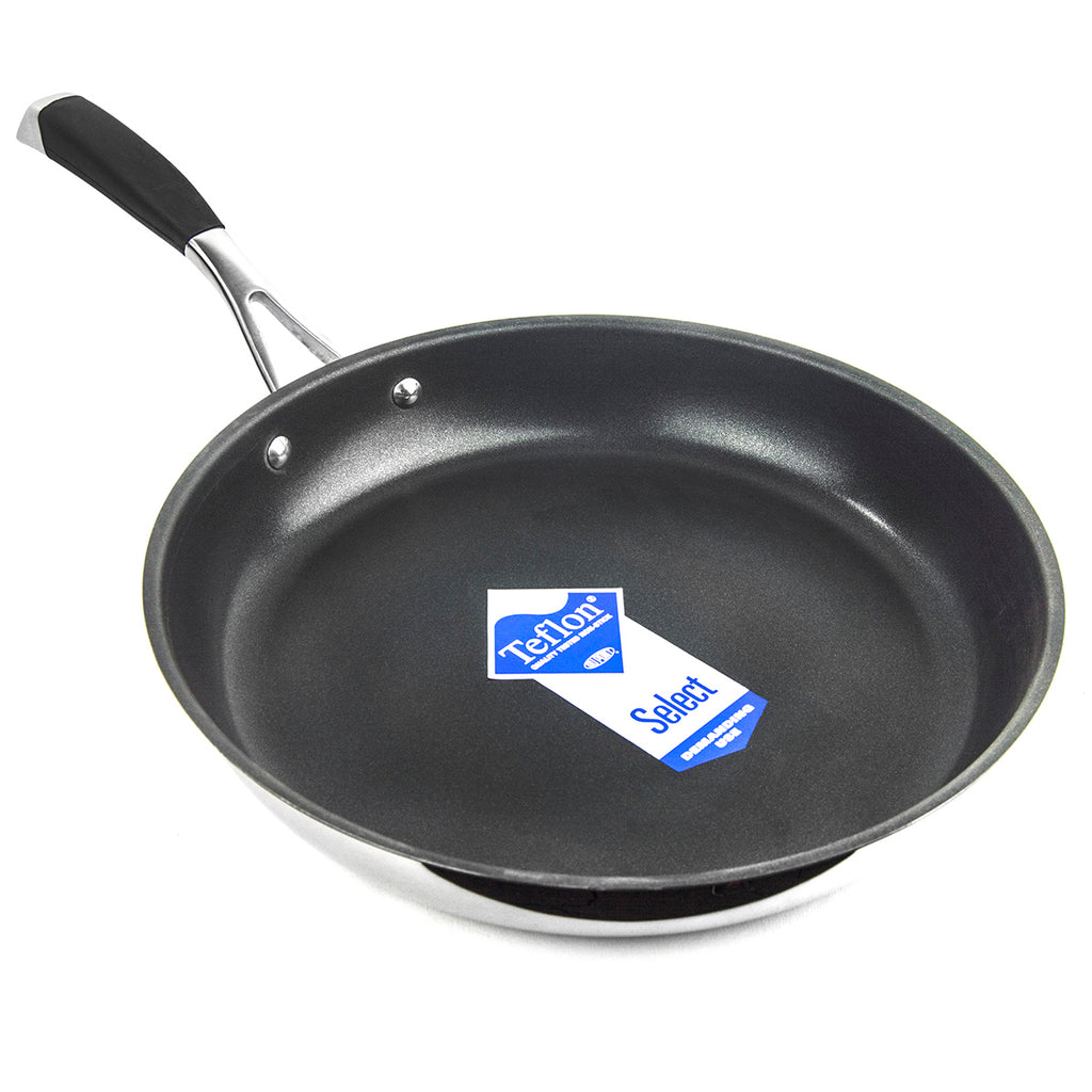 "SAVVY 11.5"" Stainless Steel Teflon Non-Stick Frying Pan"