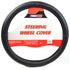 PowerXT Steering Wheel Cover, Textured Black Faux Leather