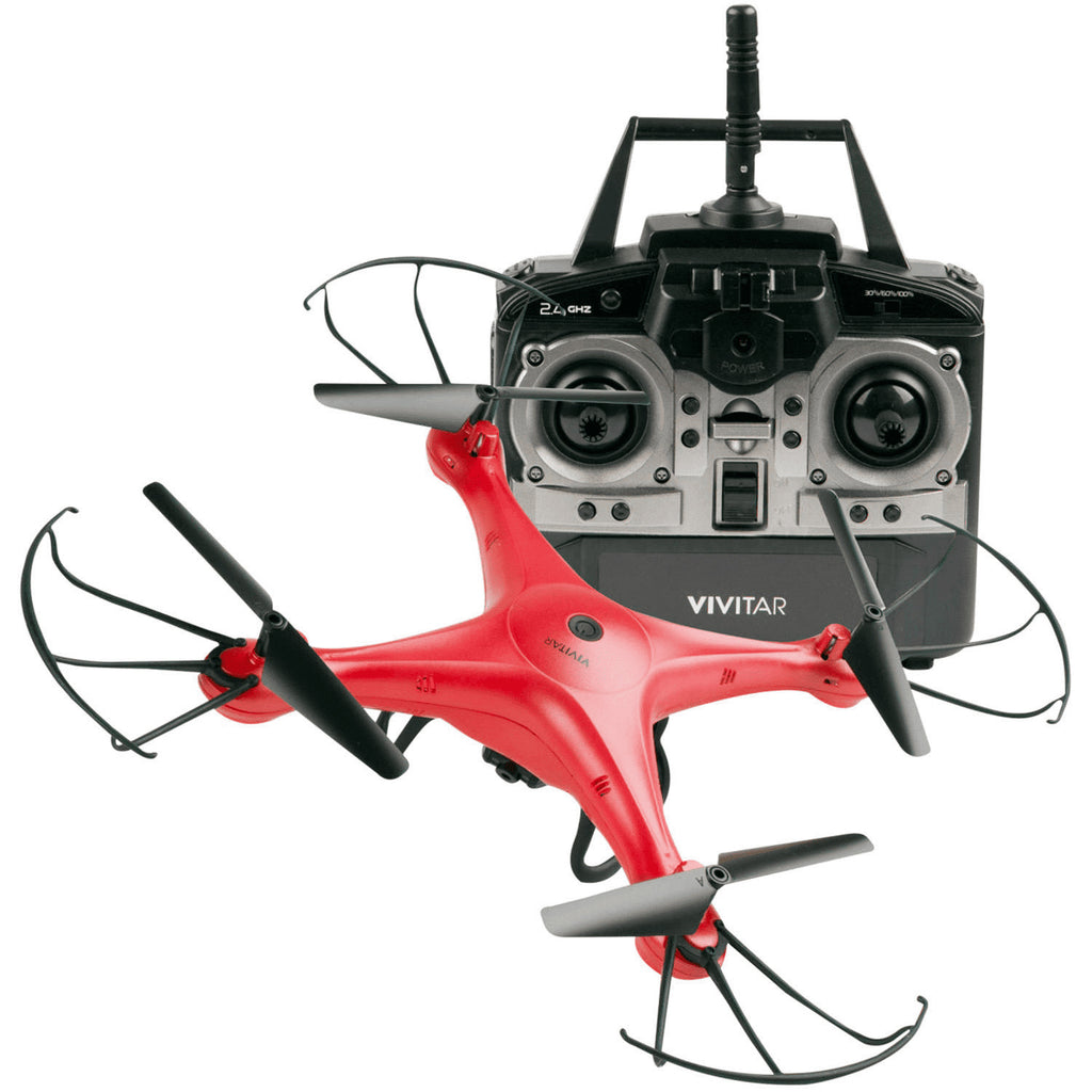 VIVITAR OPP DRONE WITH CAMERA RED