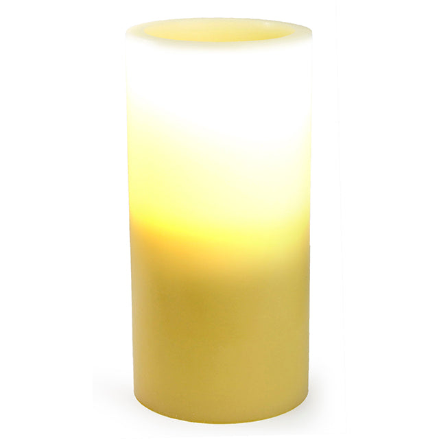 Pacific Accents Flameless Ivory Wax Pillar Candle, 6 x 12 inches