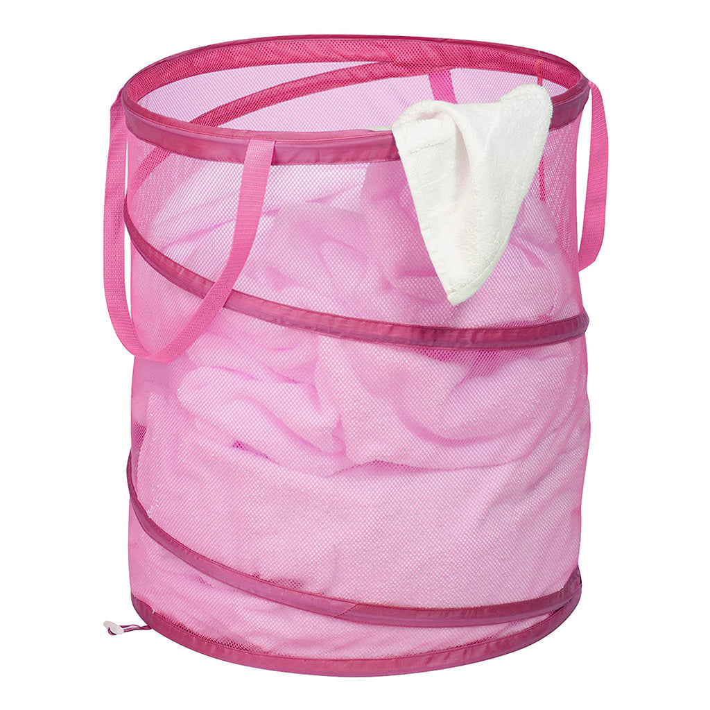 Honey-Can-Do Large Mesh Pop Open Laundry Hamper with Handles