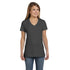 Hanes Womens 100% Ringspun Cotton Nano-T V-Neck T-Shirt