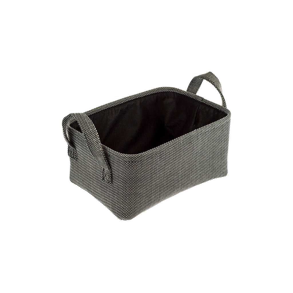 Home Ease 4 Piece Deluxe Fabric Storage Basket Set, Black