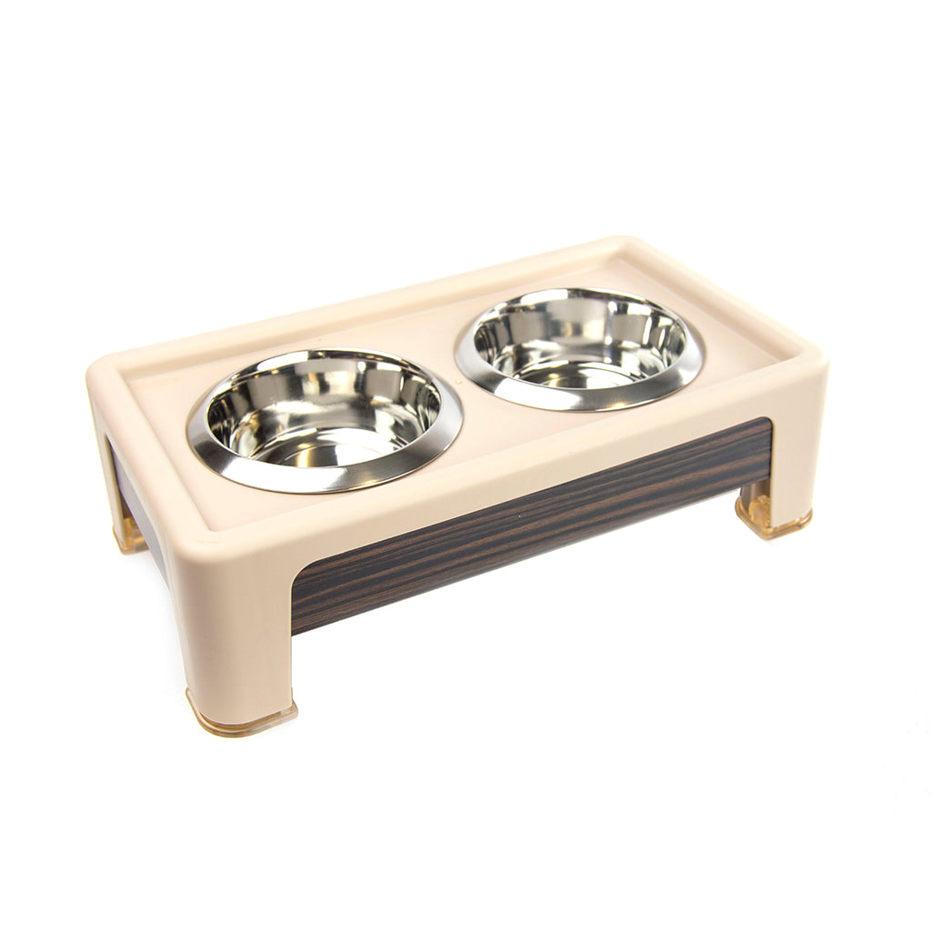 "Our Pet's 4"" Dog Feeder with Stainless Bowls"