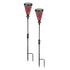 Jumbo 2 Pack Manor House Solar Mosaic Outdoor LIght Sticks, Red