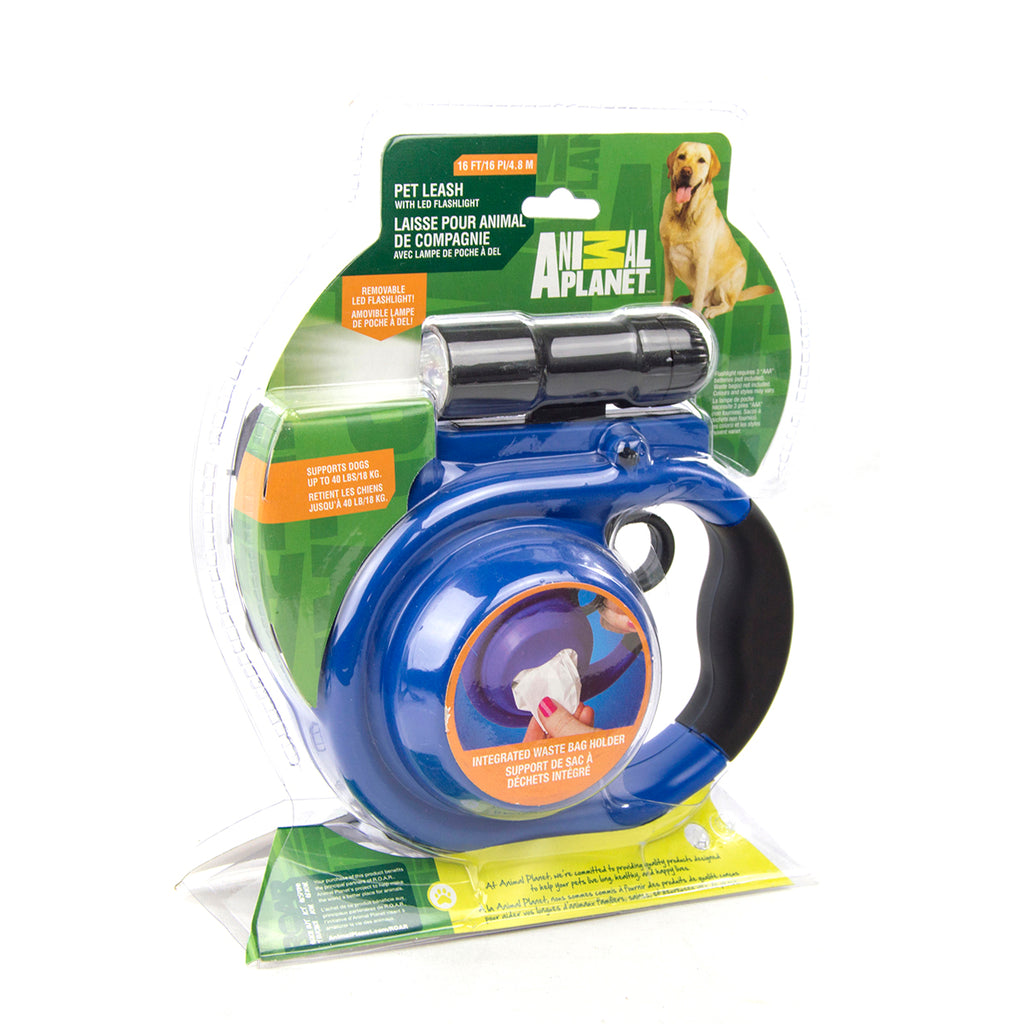 Discovery Leash with Flashlight, Assorted
