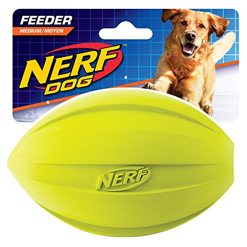 Nerf Dog Toy Football Feeder, Green