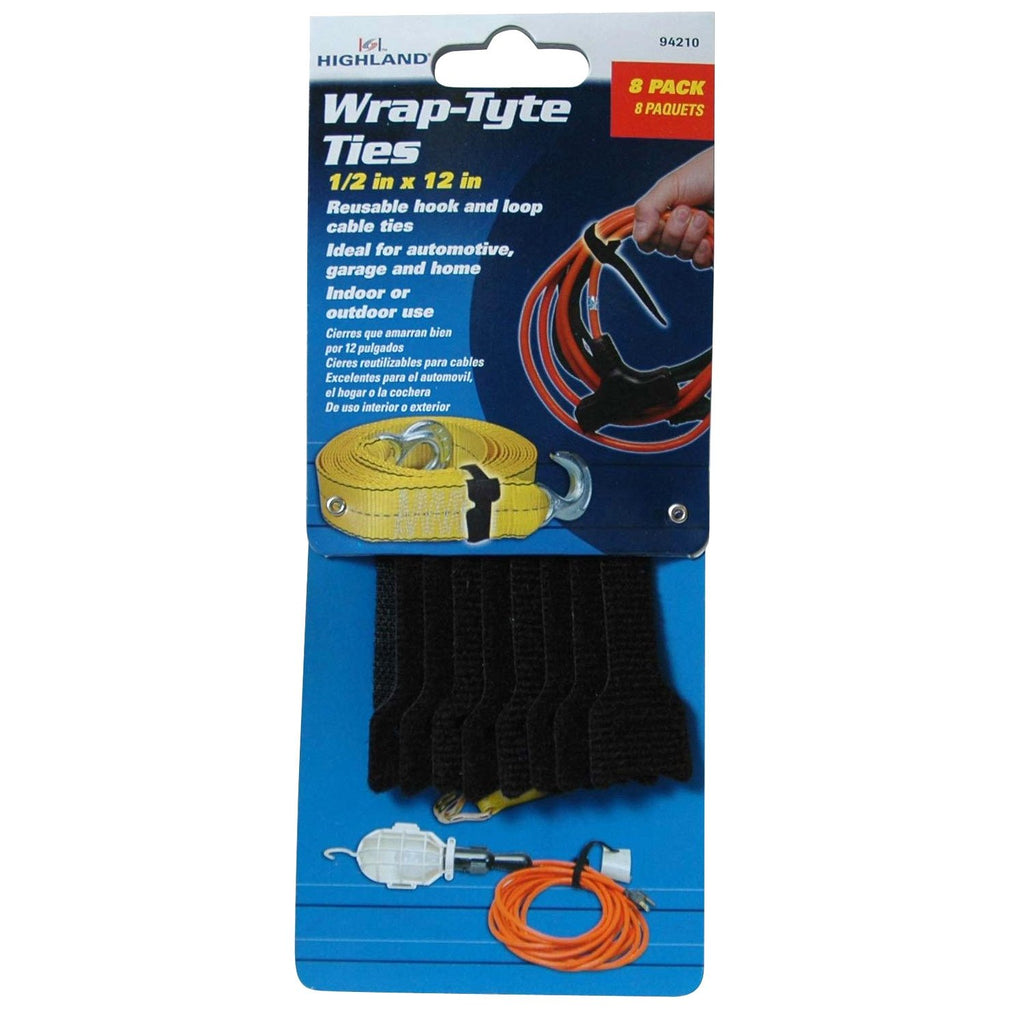 "Highland 12"" Wrap-Tyte Ties, 8 Pack"