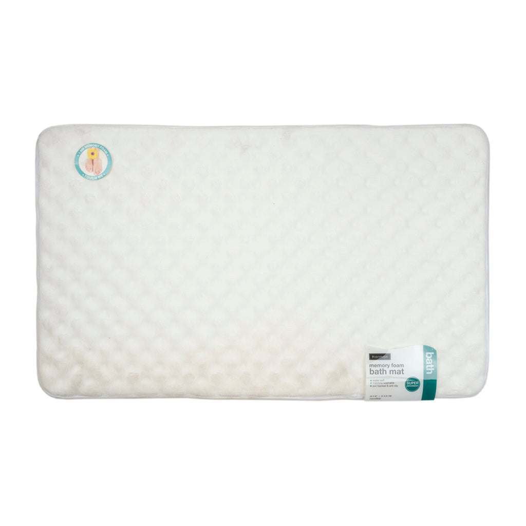 "Harman Super Soft 20"" x 32"" Memory Foam Bath Mat, White"